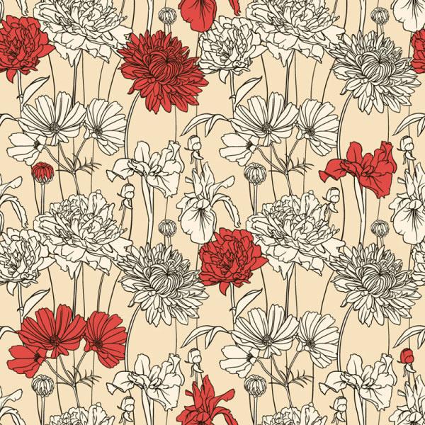 600x600 Hand Drawn Flower Pattern Art Vector Free Vector In Adobe