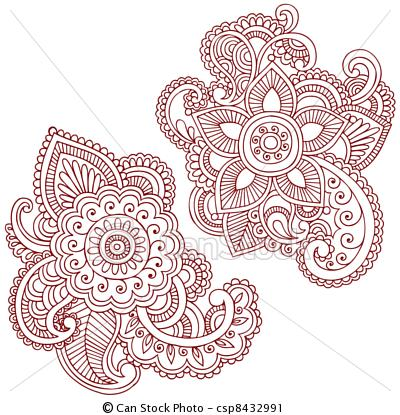 400x415 Photos Floral Drawing Patterns,