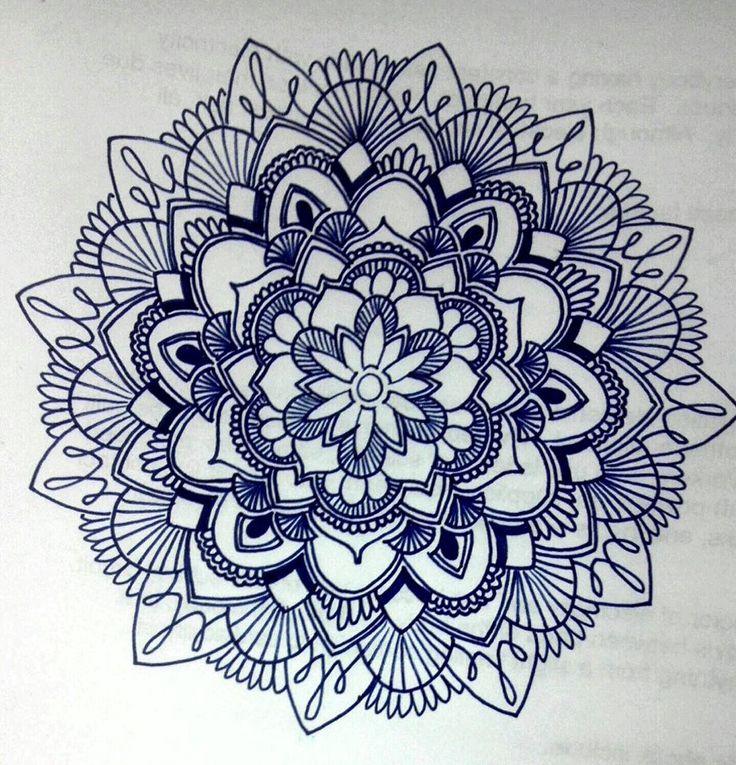 736x765 Tribal Flower Drawings Tumblr