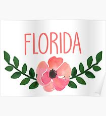 210x230 Cute Florida Drawing Posters Redbubble