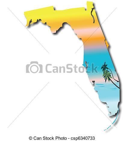412x470 Map Of Florida Vectors