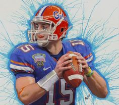 236x208 Tim Tebow, Florida Gators, Drawing, Football, Colored Pencil, Ink
