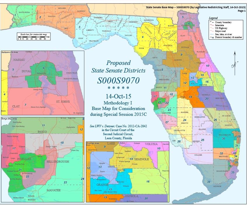 847x701 It's Map Drawing Time Again For Florida Legislators Wusf News