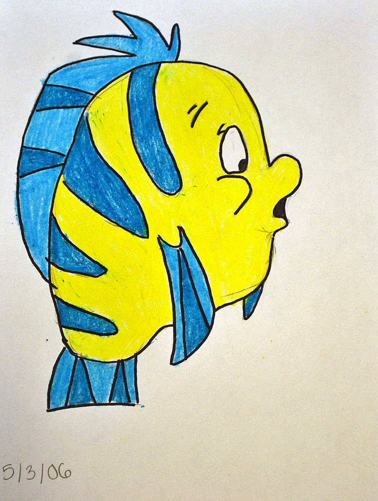 776x1029 Flounder Drawing By Kg1507
