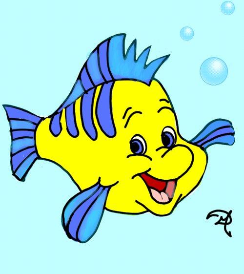 500x561 Flounder Drawings