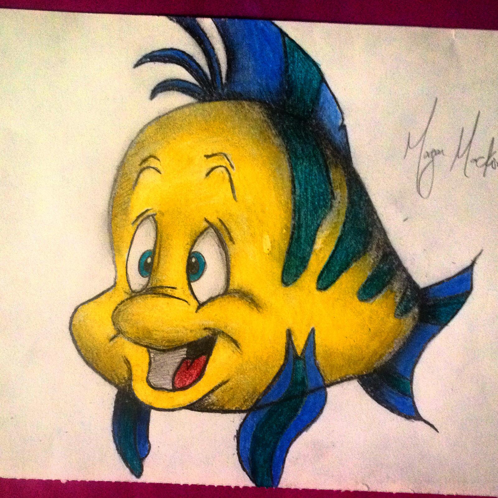 1600x1600 Flounder One Of Ariel's Best Friends. Little Guppy Is So Cute