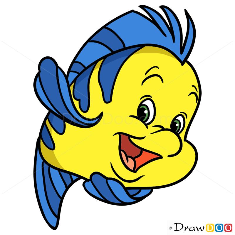 800x800 How To Draw Flounder, Mermaids