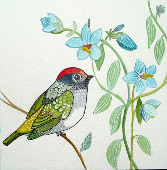 Drawings Of Flowers And Birds Flowers Healthy