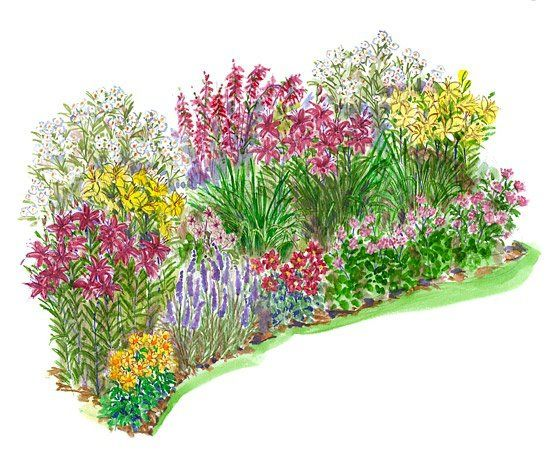 550x458 No Fuss Garden Plans Flower Garden Plans Garden Planning And Water