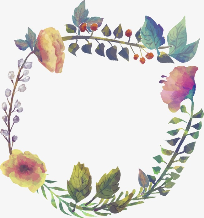 650x693 Watercolor Flowers Border, Flowers Border, Drawing Border Png