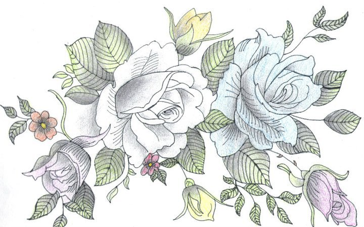 Flower Bouquet Drawing at GetDrawings.com   Free for personal use ...