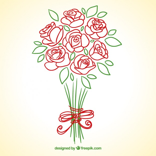 Flower Bouquets Drawing at GetDrawings.com | Free for personal use ...
