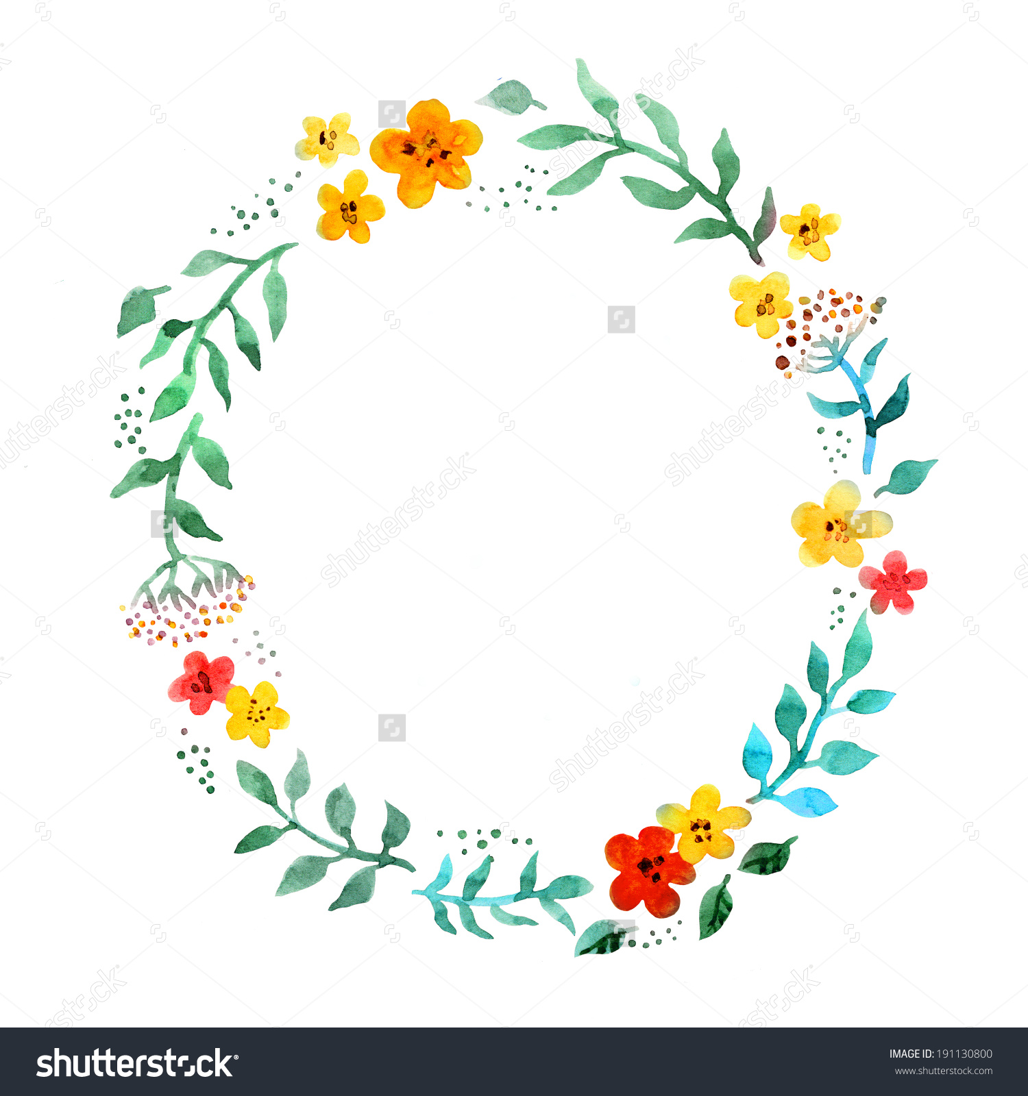 Flower Circle Drawing on Simple Shapes Coloring Pages