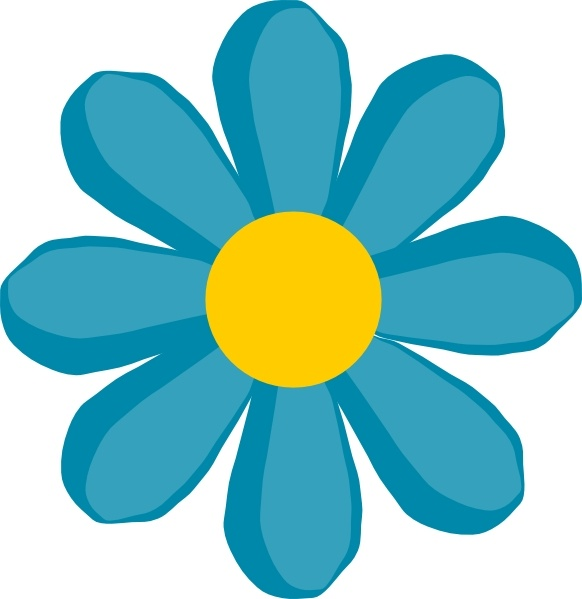 582x599 Blue Flower Clip Art Free Vector In Open Office Drawing Svg ( Svg