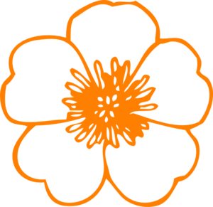 300x291 Orange Flower Clip Art