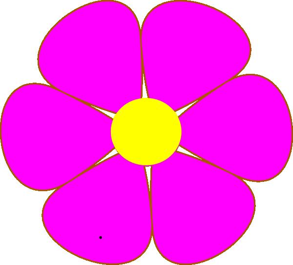 600x542 Pink Flower Clip Art
