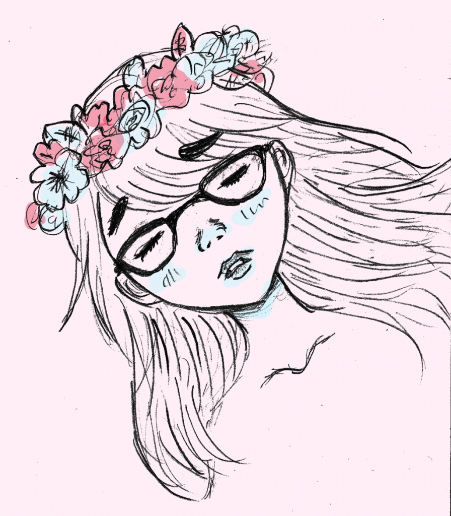 Flower crown drawing tutorial at getdrawings free for personal 896x1024 how to make flowers crown sketch flower crown drawing izmirmasajfo