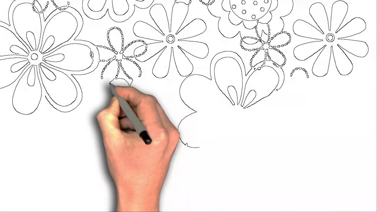 1280x720 How To Draw Spring Decorative Flower Cartoon Drawing