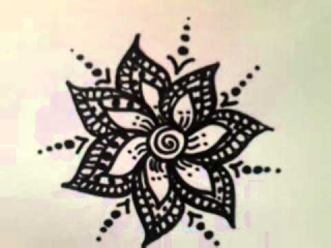 480x360 A Simple Flower Design Drawing )