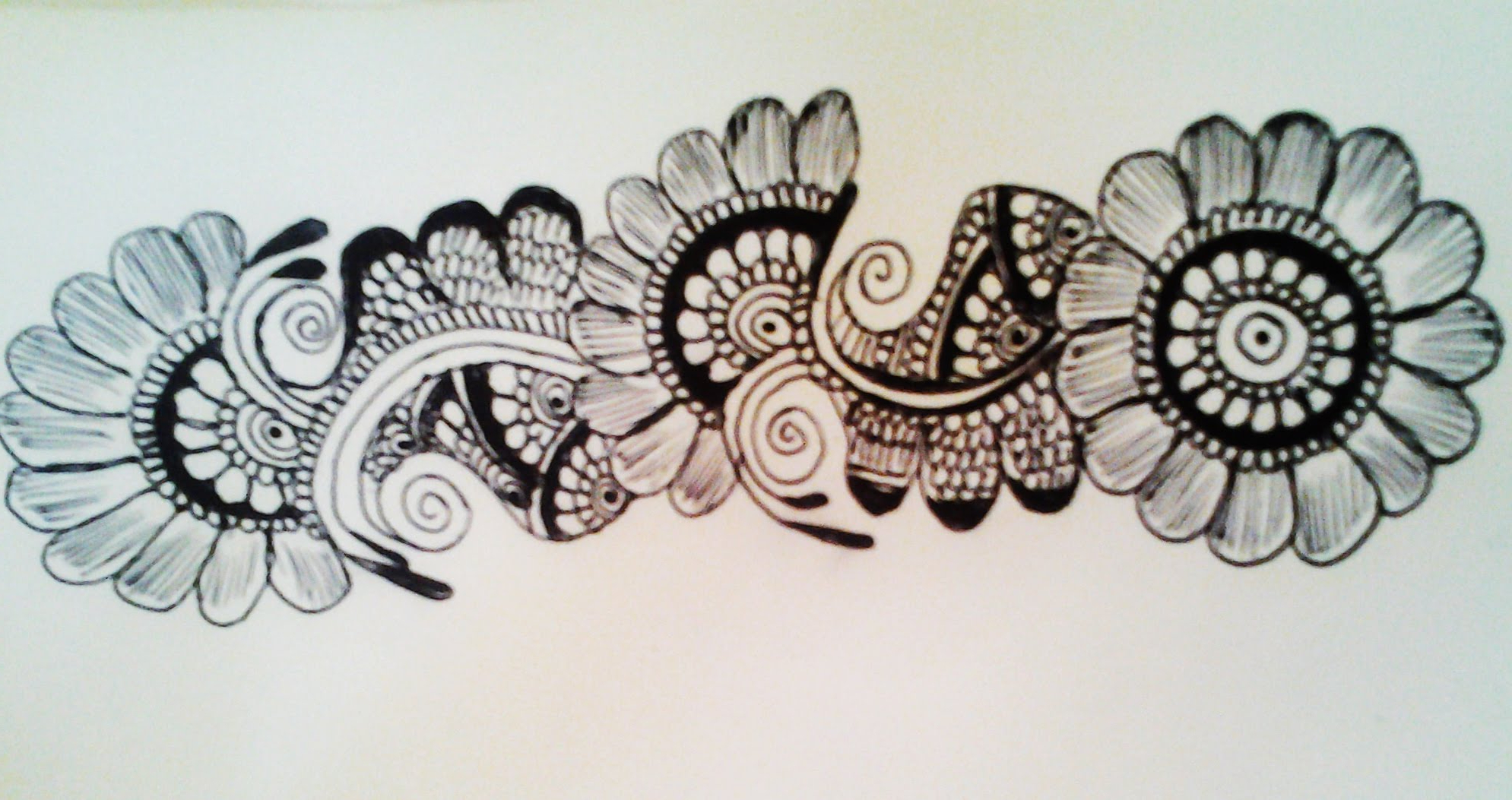 Easy Mehndi Patterns On Paper : Flower design drawing at getdrawings free for personal use