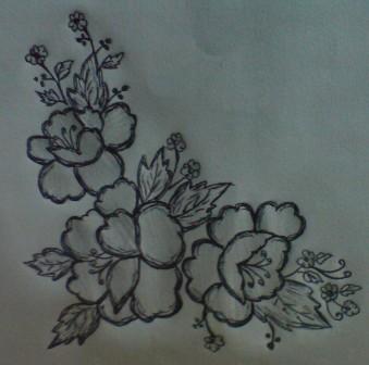 339x336 Simple Flower Designs Drawings Of Flowers Cakecraft