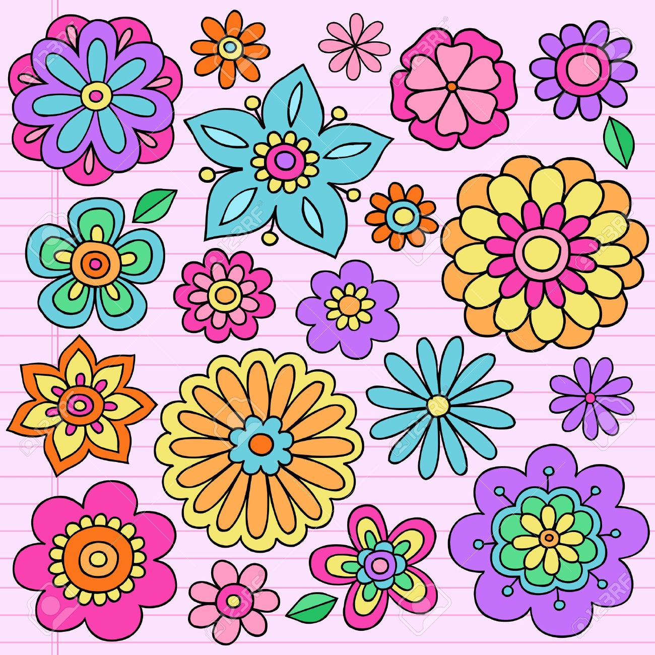 Flower designs drawing at getdrawings free for personal use 1300x1300 flower power groovy psychedelic hand drawn notebook doodle design mightylinksfo