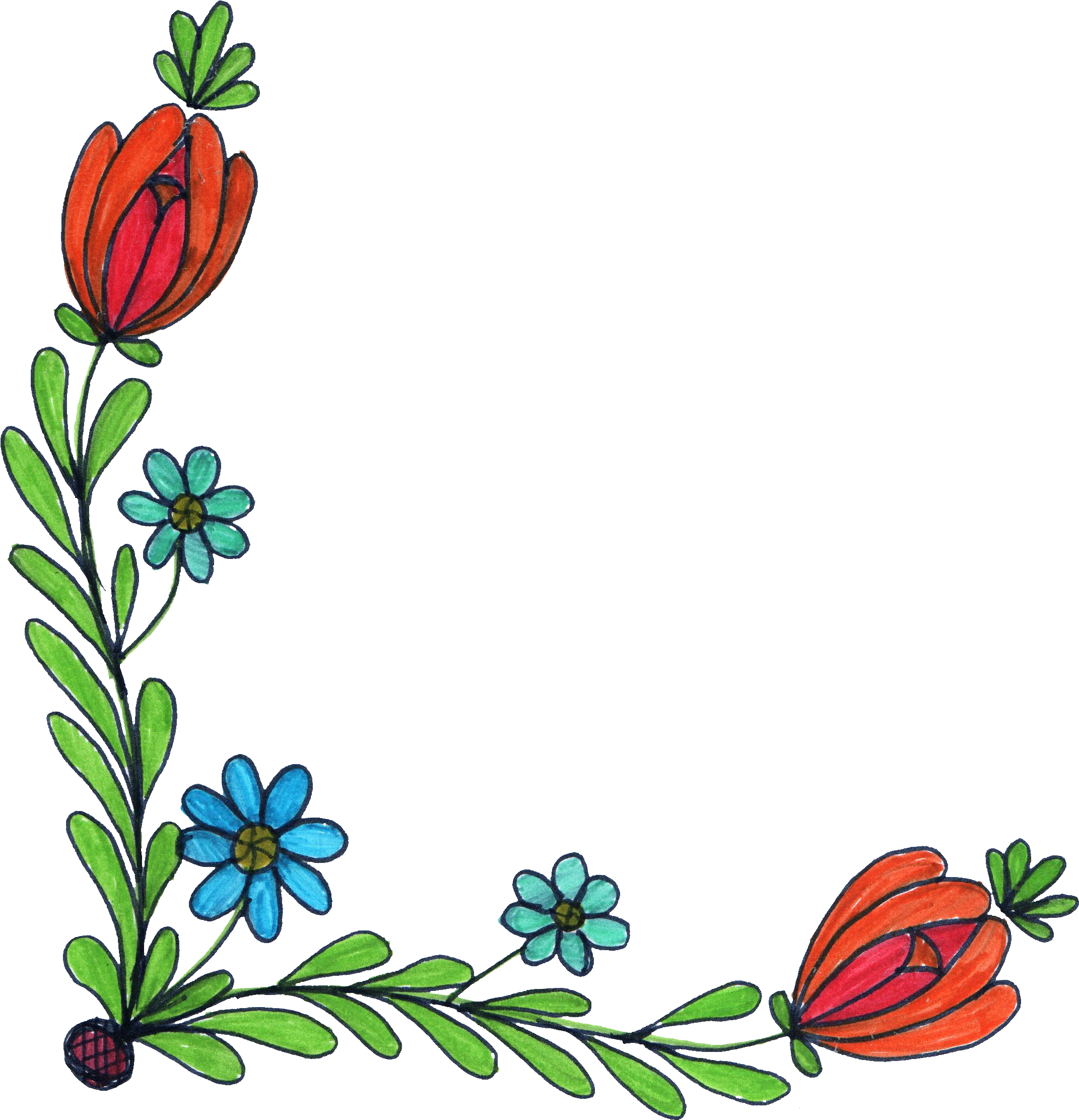 Flower drawing at getdrawings free for personal use flower 2142x2222 5 flower corner drawing png transparent thecheapjerseys Choice Image