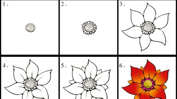 Flower Drawing Easy Step By Step At Getdrawings Com Free For