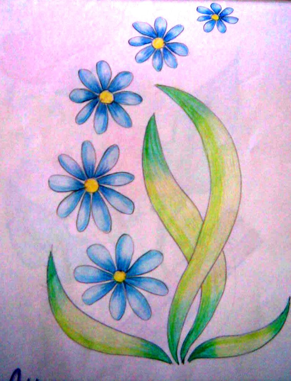 943x1235 Colorful Flower Drawing Drawing Easy Colorful Flowers Drawings