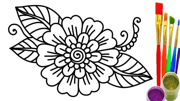 Flower Drawing Pages at GetDrawings.com   Free for personal use ...