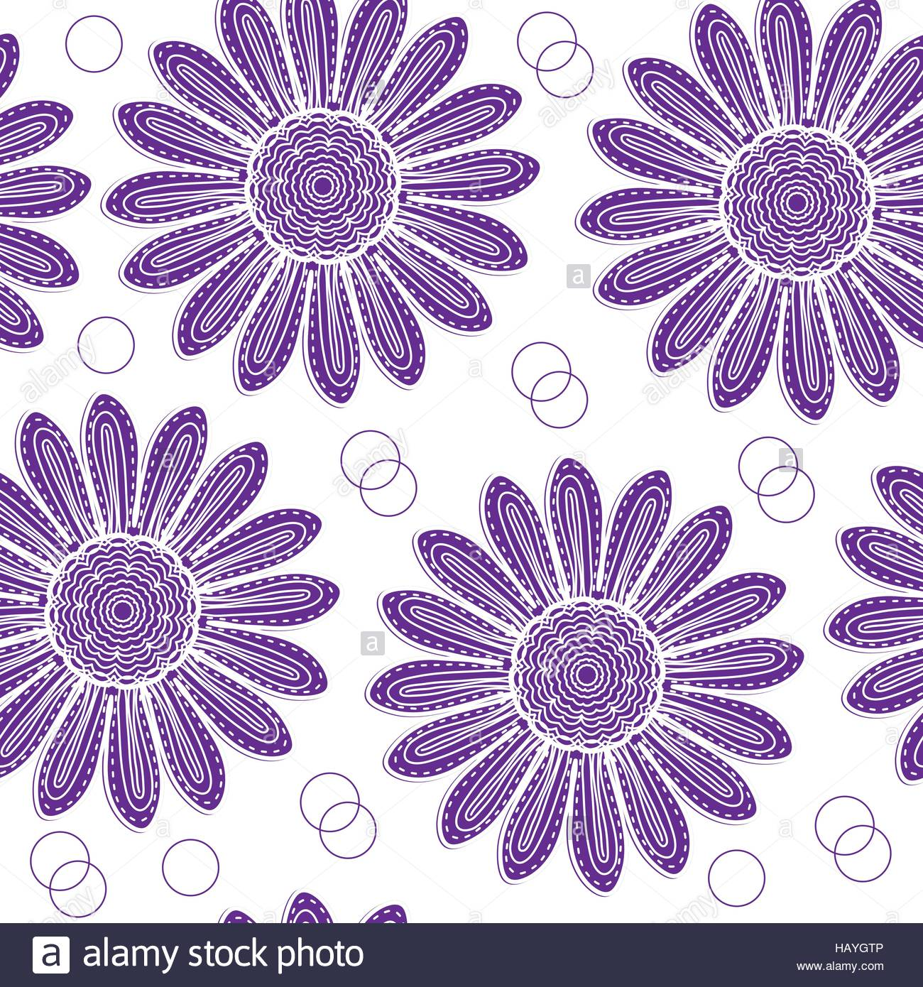 1300x1390 Floral Seamless Pattern Of Purple Chrysanthemum Hand Drawing Style