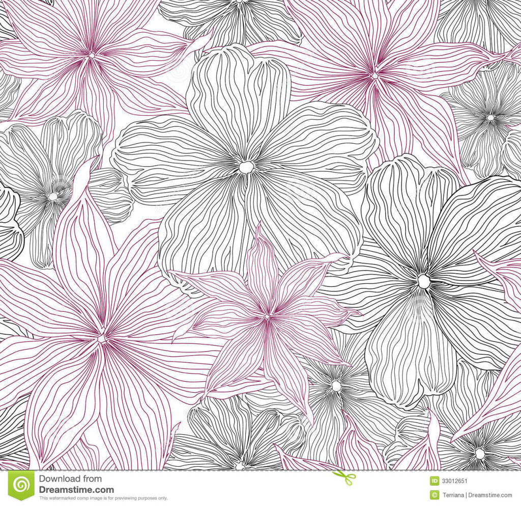 1024x993 Flower Drawing Patterns Floral Seamless Background Gentle Flower