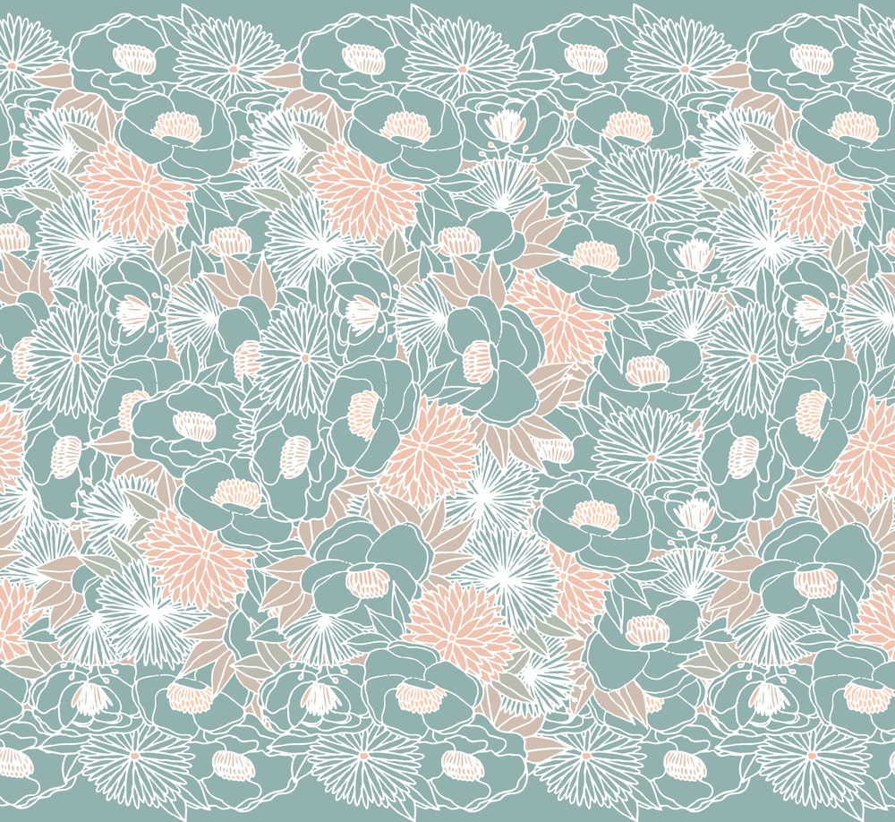 1000x918 Modern Chinoiserie Pattern Floral Chinoiserie