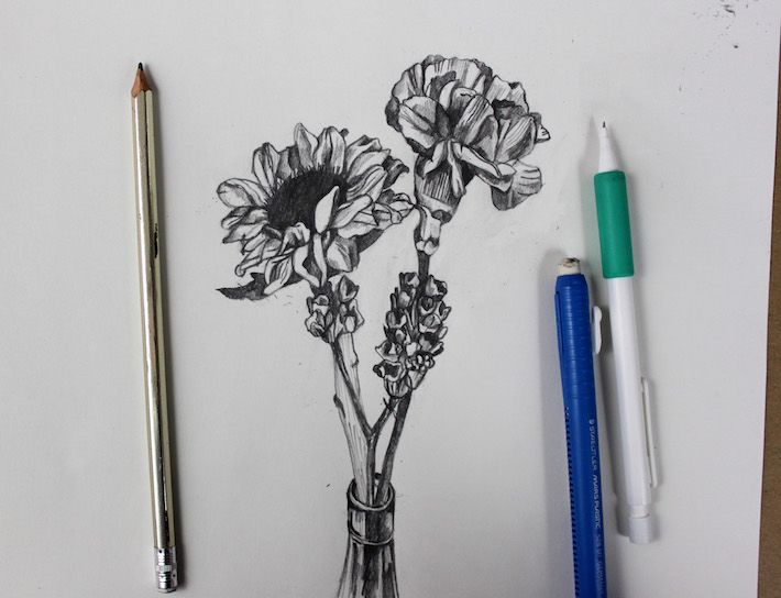 Traditional Flower Line Drawing : Flower drawing patterns at getdrawings.com free for personal use