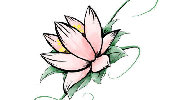 570x320 Simple Lotus Flower Drawing Related Keywords Suggestions For Lotus