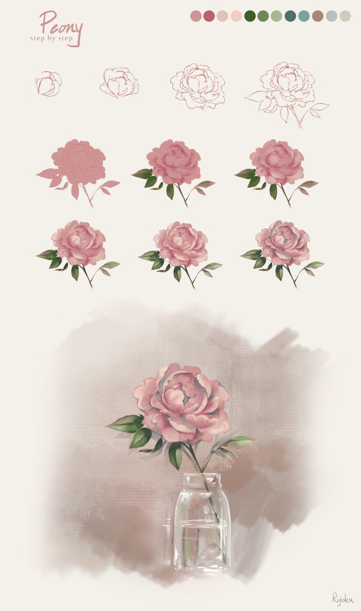 736x1244 Flower Drawing Tutorial 29 Best Tutorial