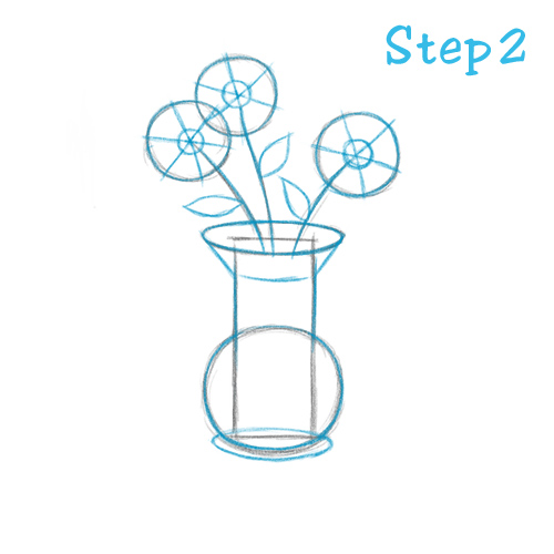 500x500 How To Draw A Flower Vase (Beginning)
