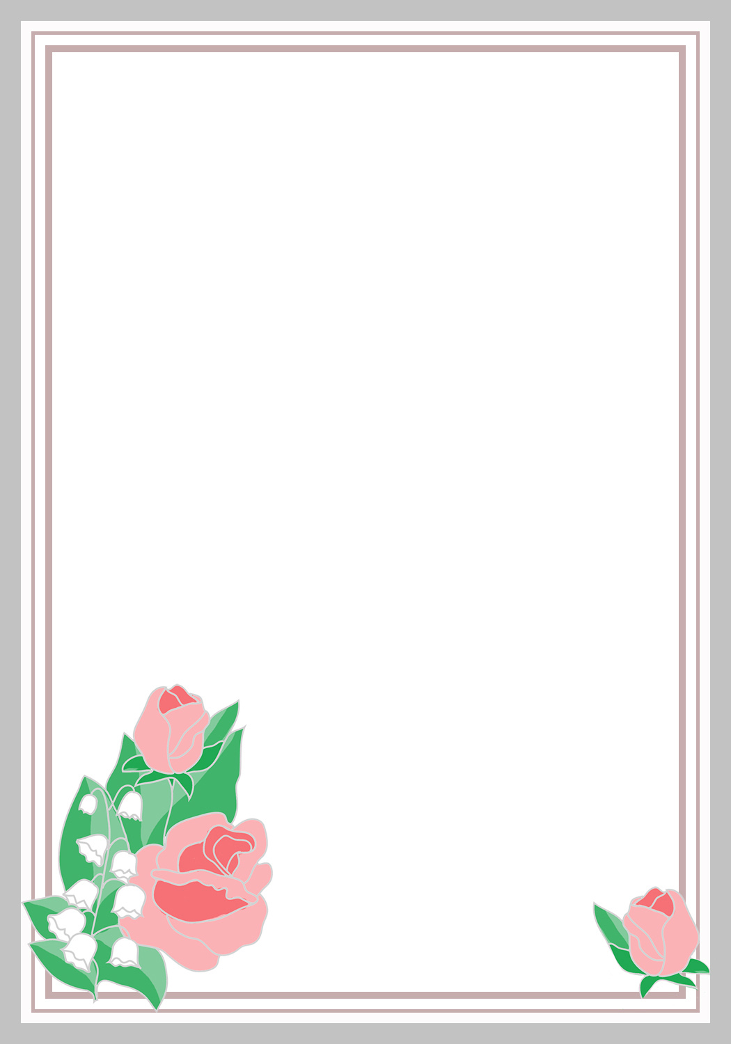 1050x1500 Flower Borders And Frames