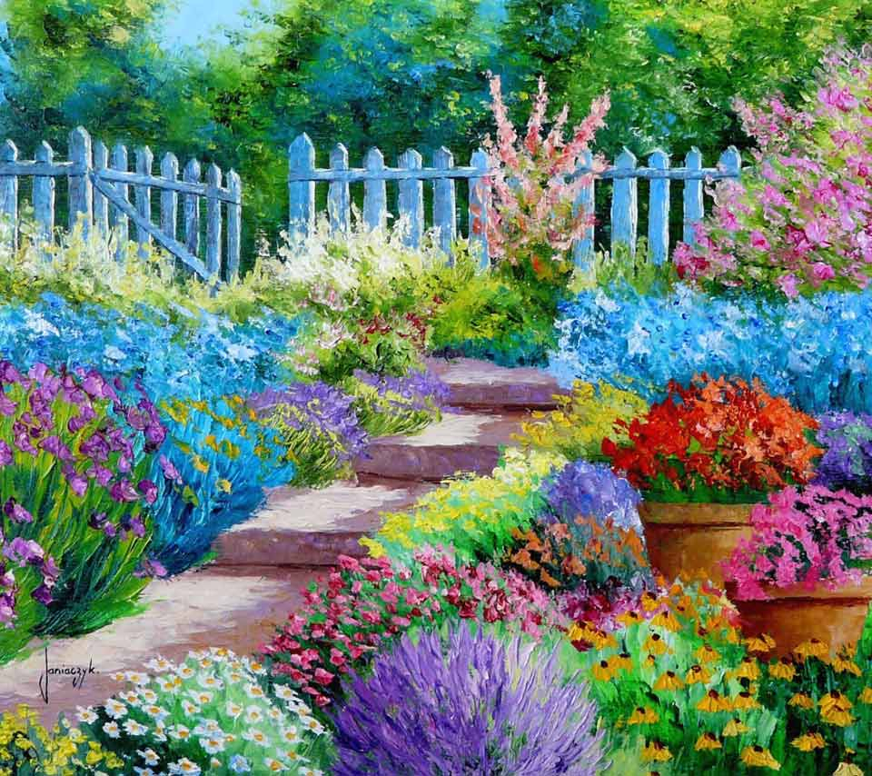 flower garden drawing at getdrawings   free for personal use