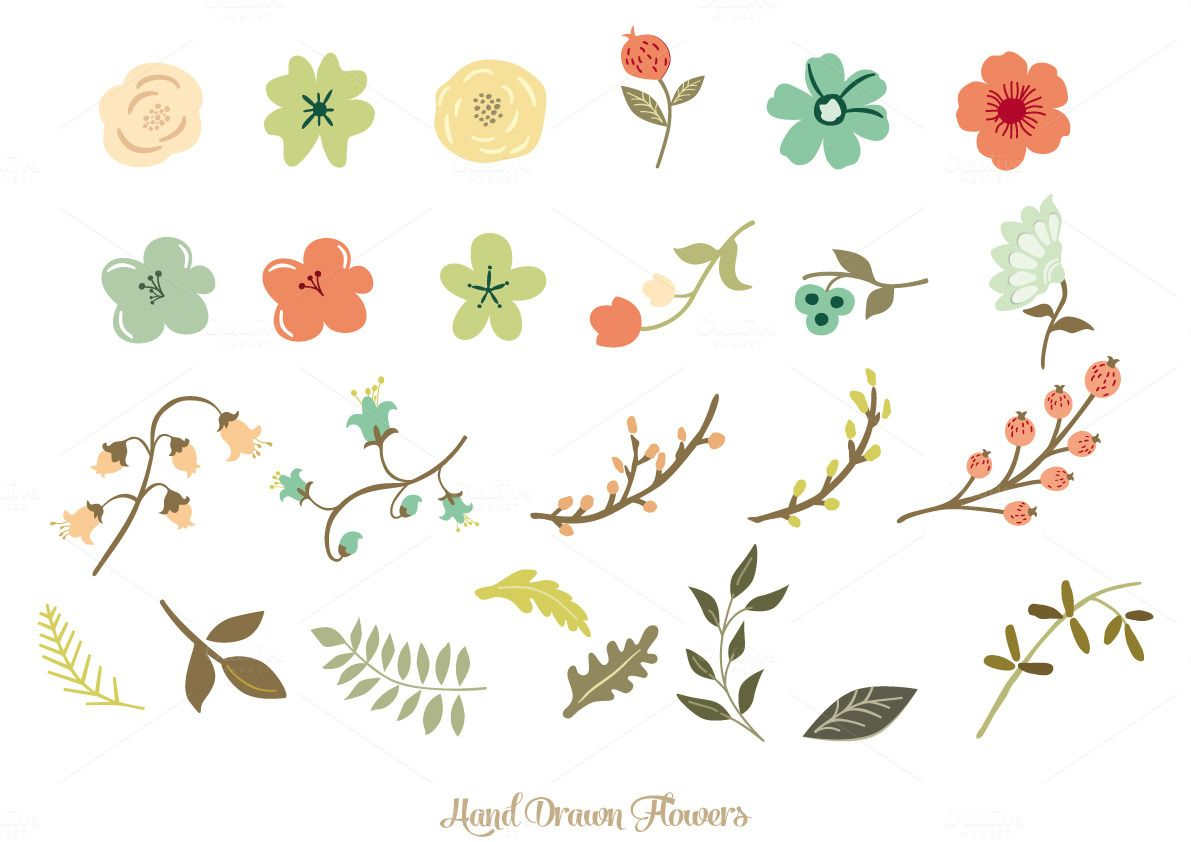 1191x842 Hand Drawn Flowers Hand Drawn Flowers, Draw Flowers And Hand Drawn