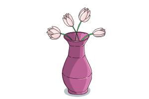 300x200 How To Draw Flowers In A Vase