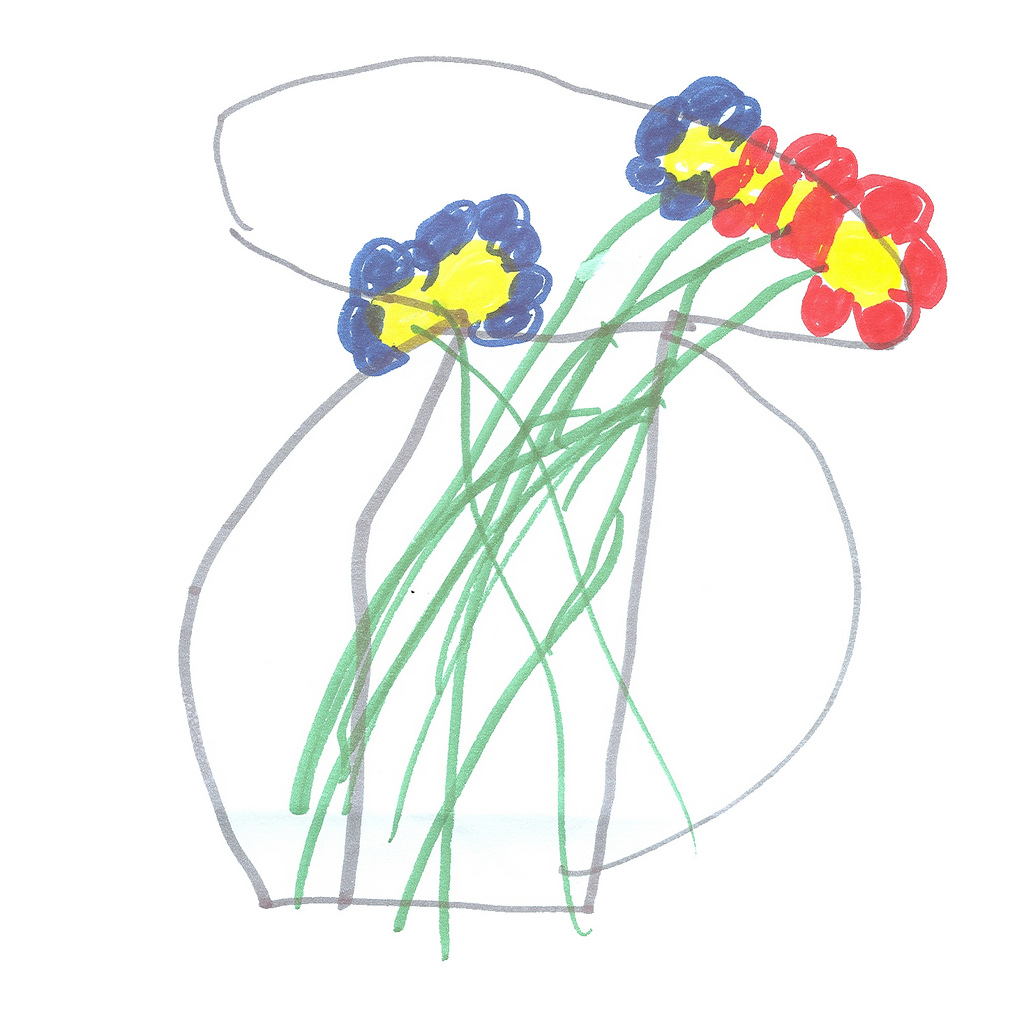 1024x1024 Sarah's Flower Vase (Drawing) Flower Vase Design Drawn By