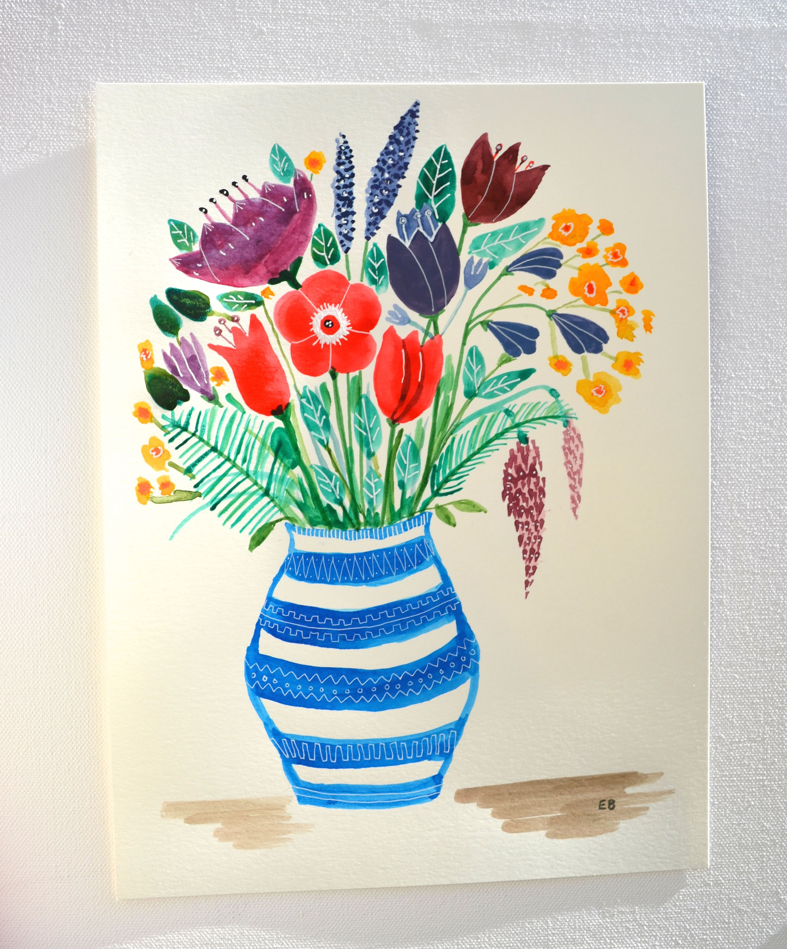 3020x3642 Gallery Different Flower Vase Drawing,
