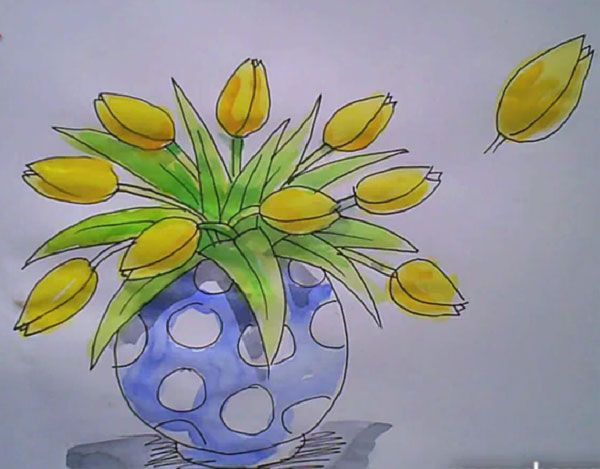 600x469 Gallery Images Of Flower Vase Drawings,