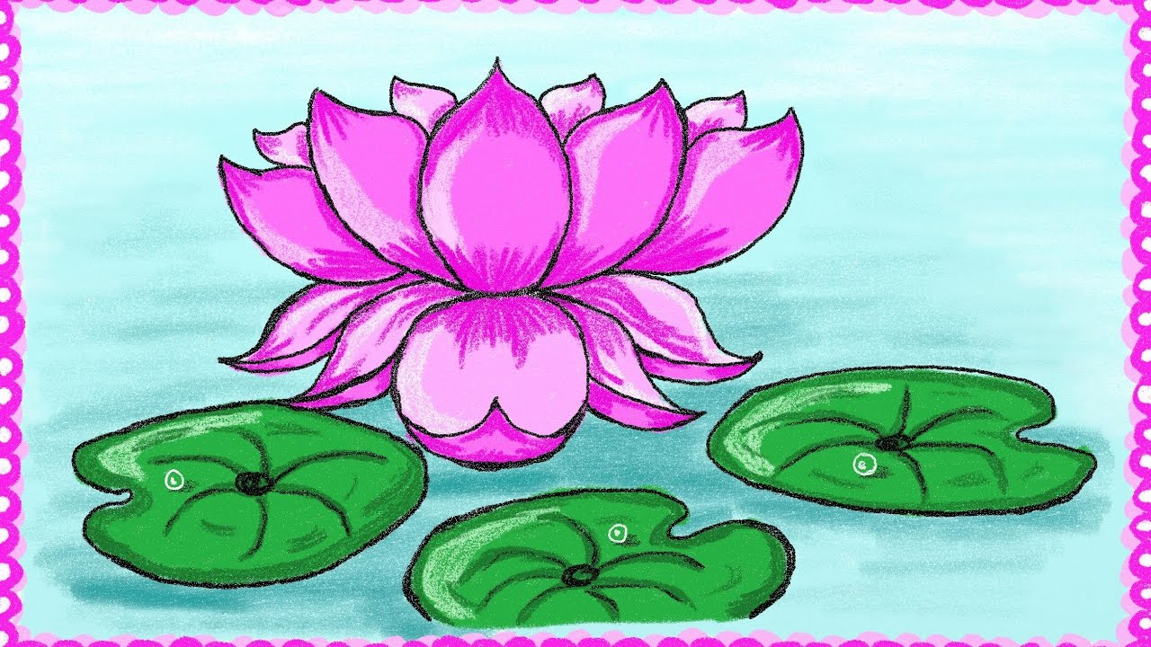 Flower lotus drawing at getdrawings free for personal use 1280x720 drawing a simple lotus flower how to draw lotus drawing for izmirmasajfo