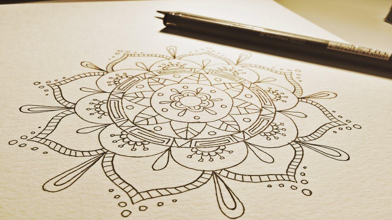 Flower Mandala Drawing at GetDrawings.com