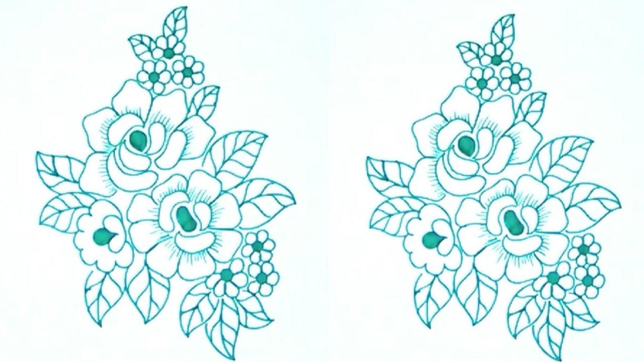 Flower Pattern Drawing at GetDrawings | Free download