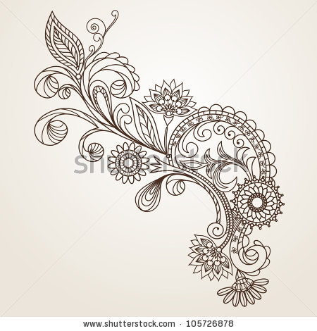 450x470 Floral Pattern Hand Drawing Illustration Sleeve And Other Places