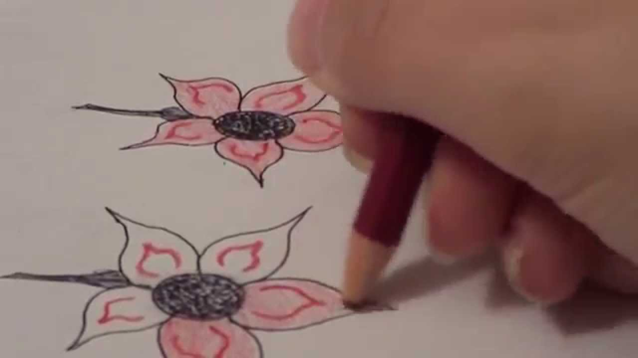 1280x720 How To Draw A Five Petal Flower