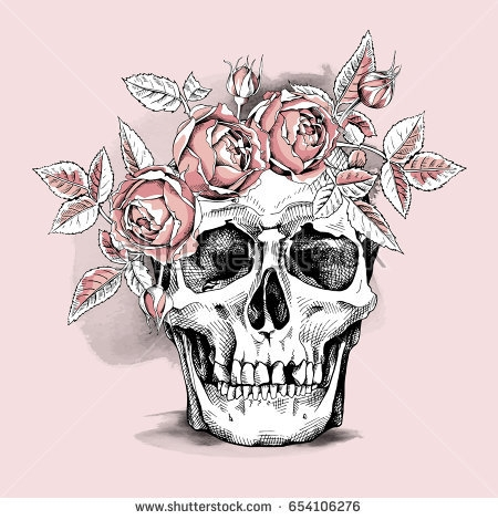 Flower skull drawing at getdrawings free for personal use 450x470 pink flower skull flower skull drawing mightylinksfo